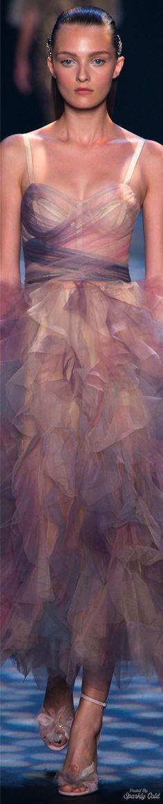 Feminie...trendy light/sheer fabric, sweetly curve hugging Marchesa Spring 2017