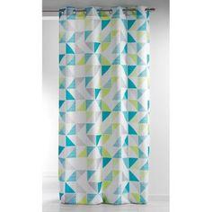 Rideau Scandinave Triangles Vert 140x260 :Taille 140x260100% polyesterOeilletstons verts pastelDessins imprimés en forme de triangleTouche de déco supplémentaire à votre chambre.