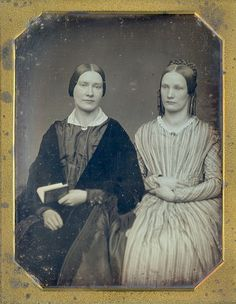 Antique 1 2 Plate Daguerreotype Portrait of Two Sisters C 1845 | eBay