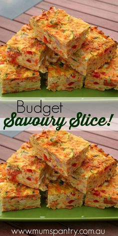 Budget savoury slice … is part of Savoury slice - Vegetable Slice, Vegetable Recipes, Savory Snacks, Savoury Dishes, Savoury Bakes, Savoury Muffins Vegetarian, Savoury Slice, Little Lunch, Yummy Food