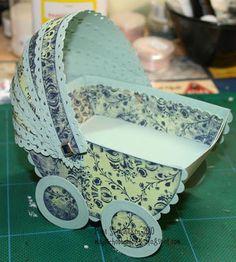 Mayas Hobby Blog: DT InkyWings; Tut Stroller / Baby pram tut ;)