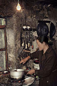 A timeless kitchen . Tibet