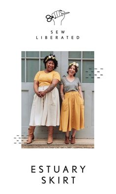 Sew Liberated Estuary Skirt Arrow Fabric, Skirt Patterns Sewing, Skirt Sewing, Orange Skirt, Extra Fabric, Digital Pattern, Buttonholes, Cropped Sweater, Dressmaking