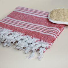 100 Cotton Turkish Bath Hamam Peshtemal Red by elifcandesign, $12.90