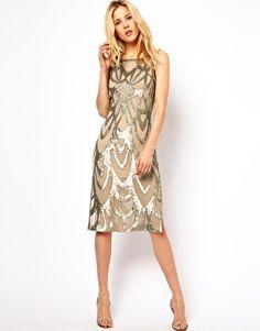 Image 1 - Needle & Thread - Era - Robe mi-longue en soie