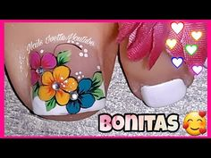 Pretty Toe Nails, Cute Toe Nails, Cute Acrylic Nails, Toe Nail Art, Gorgeous Nails, Gel Nails, Nail Salon Design, New Nail Art Design, Sunflower Nails