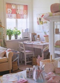 needlework needlecraft craft room studio workroom space sewing knitting crochet embroidery stitching quilting.
