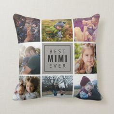 Best Mimi Ever Photo Throw Pillow - tap to personalize and get yours #ThrowPillow #gift, #personalize, #custom, #family, #photos, Diy Gifts, Unique Gifts, Accent Pillows, Throw Pillows, Christmas Card Holders, Best Dad, Home Decor Accessories, Custom Pillows, Mom And Dad