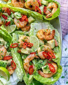 Chili Lime Shrimp Wraps for Light and Fresh Clean Eating! Chili Lime Shrimp Wraps for Light and Fresh Clean Eating! Shrimp Recipes Easy, Seafood Recipes, Mexican Food Recipes, Dinner Recipes, Clean Eating, Healthy Eating, Healthy Food, Vegan Food, Vegan Cake