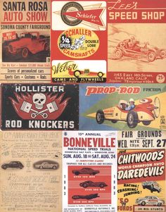 50's hot rods | Vintage 50's Hot Rod Graphics