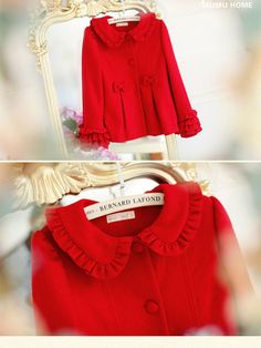 little red charming darling coat $80 #asianicandy #kawaii #japanese #kstyle #asianfashion #sweet #style