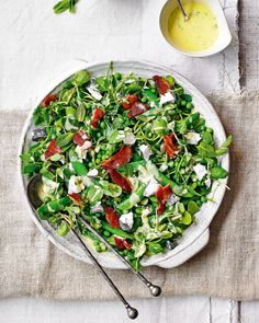 [New] The 10 Best Recipe Ideas Today (with Pictures) - Bacon and goats cheese salad for Photo Food Styling Props by Salad Sauce, Gluten Free Banana, Pea Salad, Goat Cheese Salad, Delicious Magazine, Fresh Mint Leaves, Seasonal Food, Food For Thought, Salad Recipes