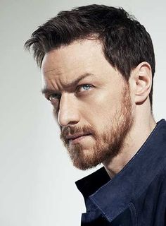 James McAvoy. Dark hair, ginger beard. Gives a whole new deff to Professor X