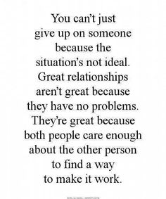Great relationships aren't great because they have no problems..