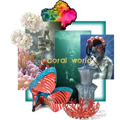 Designer Clothes, Shoes & Bags for Women Polyvore Fashion, Fashion Boards, Coral, Alessi, Painting, Design, Women, Art, Art Background