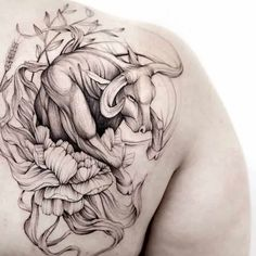 66 Taurus Tattoos That Are Down-to-earth Gorgeous – Our Mindful Life – taurus constellation tattoo Ox Tattoo, Taurus Symbol Tattoo, Taurus Bull Tattoos, Bull Skull Tattoos, Taurus Constellation Tattoo, Head Tattoos, Samoan Tattoo, Polynesian Tattoos, Tattoo Black