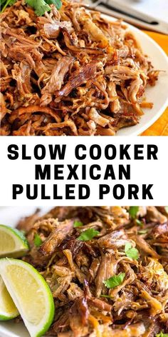 This delicious Slow Cooker Pork Carnitas recipe is tender and juicy, yet simple to make. Mexican pulled pork is great to have on hand for carnitas tacos, burrito bowls, salads, sandwiches and more. Pulled Pork Recipe Slow Cooker, Pork Carnitas Recipe, Slow Cooker Pork Roast, Pulled Pork Recipes, Pork Tenderloin Recipes, Carnitas Tacos, Slow Cooked Pork Shoulder, Pork Shoulder Recipes, Shoulder Roast