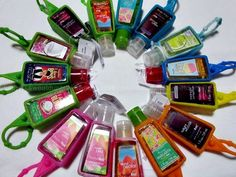 ...in addition to my Bath and Body Works obsession, or rather the thing I'm most obsessed with from there, are Pocketbacs. I'm a germaphobe, and like my hands clean and smelling good. :) http://media-cache9.pinterest.com/upload/22799541833057402_6ym9nmsP_f.jpg pkj i love me some