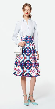 MAX&Co. SS 2016 - Shirt CARMINIO / skirt PIANOLA / cross-body bag AGRARIA / pumps ALCE