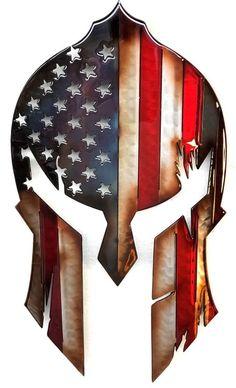 Stars And Stripes Spartan Battle Worn Spartan Battle, Spartan Helmet, Helmet Tattoo, Knight Art, I Love America, Liquid Metal, Native American History, Military Art, Metal Art