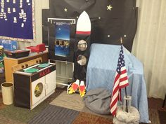 Space themed dramatic play center