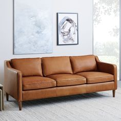 Hamilton Leather Sofa (206 cm) | west elm Australia 1950s Furniture, Upholstered Furniture, Shabby Chic Furniture, Modern Furniture, Deck Furniture, French Furniture, Repurposed Furniture, Cheap Furniture, Bedroom Furniture