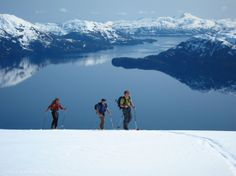 Ski to Sea Alaska - A Prince William Sound Ski Cruise.  Join Alaska Alpine Adventures and Discovery Voyages for an amazing backcountry 7 day skiing cruise throughout the Chugach Mountains in Prince William Sound. Explore and ski hard all day and relax aboard a 65' yacht all night.