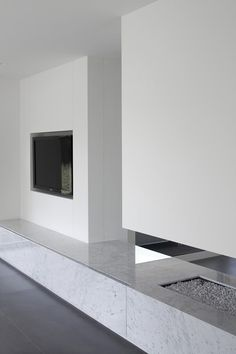 Interior and fireplace by Minus