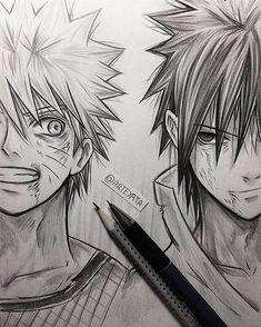 Naruto Uzumaki & Sasuke Uchiha Love arts like this one Naruto Shippuden Sasuke, Anime Naruto, Anime Yugioh, Manga Anime, Anime Pokemon, Naruto Und Sasuke, Shikamaru, Itachi, Naruto Drawings