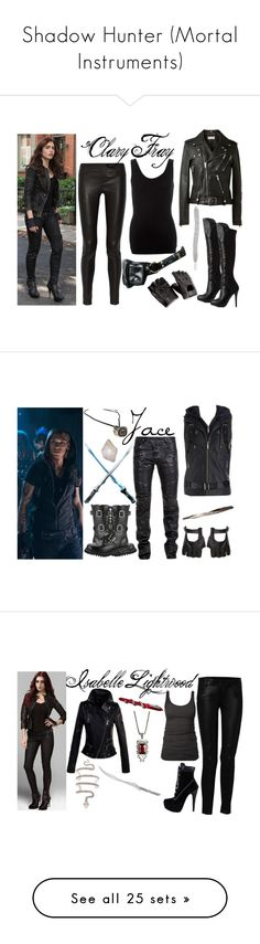 """Shadow Hunter (Mortal Instruments)"" by darkandfallenangel ❤ liked on Polyvore featuring art, mortal instruments, fillers, tattoos, the mortal instruments, words, quotes, text, phrase and saying"