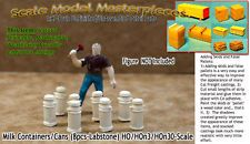 Milk Containers/Cans (8pcs) Scale Model Masterpieces HOn3/1;87 SQ3-30
