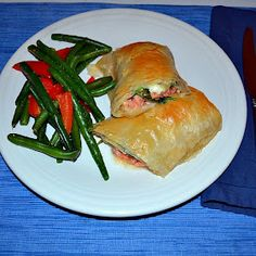 Salmon wrapped in Phyllo Dough