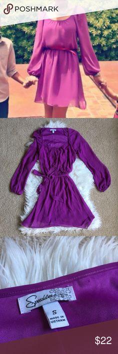 Purple Chiffon Long sleeve Dress Purple Chiffon Long sleeve Dress Dresses Mini
