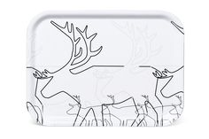 Anna Viktoria - Reindeer Tray - Made in Öland, this beautiful and practical tray is fit to serve treats at any fika. Swedish House, Fika, Unity, Reindeer, Home Accessories, Tray, Gift Wrapping, Animal, How To Make