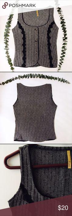 🎼Vintage | Pinstriped Vest Vintage vest with chalky stripes. Circa unknown. Vintage Jackets & Coats Vests