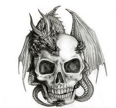 Popular Skull Tattoo Designs | Best Skull Design In Skull Tattoo Flash