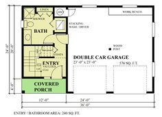 Plan 9824SW: Carriage House Plan With Shed Dormer