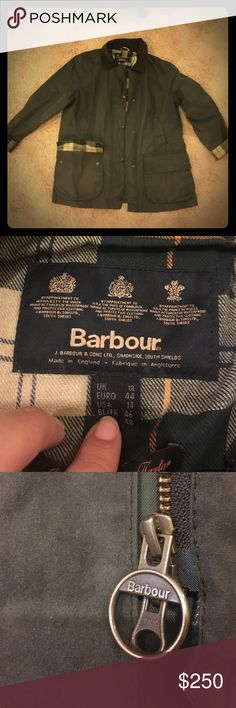 Gently Used Barbour Beadnell in Sage 🚫Trades Authentic Gently used Barbour beadnell. Size 14. Color: Sage. This jacket is a true classic, frequently sported by the Royal family. Retails for $399. Will need reproofing within the next season or so depending on use. Has been a great coat! Only selling because I've lost weight and will likely purchase another with the proceeds from this sale. 🚫 Trades Barbour Jackets & Coats Utility Jackets