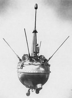 || Luna 2, the first human-made object to reach the surface of the Moon.
