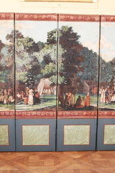 1stdibs.com | Dufour French Wallpaper Panel Screen, Circa 1815