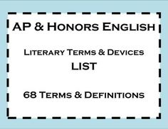 literary terms and devices pdf