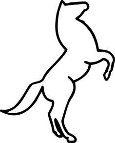 cabrant sauvages silhouette vecteur beau cheval banque d u0027images