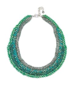 Nali Shop. Green Crystal Necklace