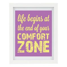 #shopetsy Life Begins At The End Of Your Comfort Zone by ColourscapeStudios, $15.00