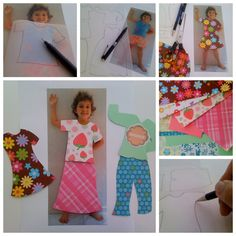 how to make a personalized paper doll and clothes    This is awesome, Leyna will love this!