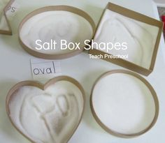 Drawing in Salt Box Shapes by Teach Preschool