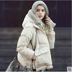 Winter jacket women Europe military 2015 new winter coat women fashion short loose park casual duck down parkas plus size M0035-in Down & Parkas from Women's Clothing & Accessories on Aliexpress.com US $66