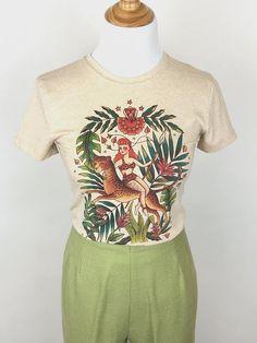 Collectif LORENA Tropical Vintage WINTER FLAMINGO Print Bluse SHIRT Rockabilly