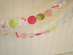 Fabric Garland- from birthday party to baby shower