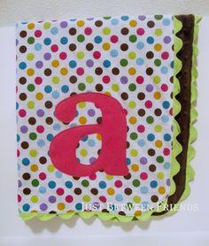 Just Between Friends: Monogram Baby Blanket